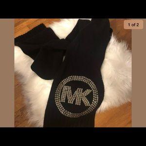 Michael Kors Knit Scarf Embellished Black